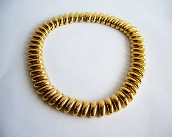 Vintage 1970s Gold Cable Link Necklace