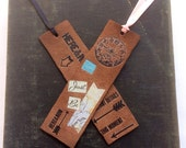 Leather Bookmarks Here and Now Vintage Inspired Unique Book Lover Teacher Gift