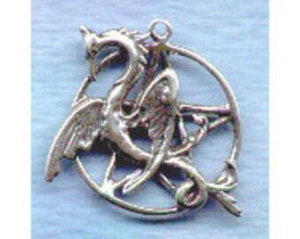 Phoenix Afire ~  Pentacle Pentagram Sterling Wiccan Jewelry  Pent146