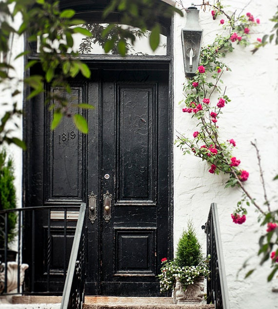 Art, Photography, City Scene, Doorway, Climbing Roses, Fine Art Photography, Print