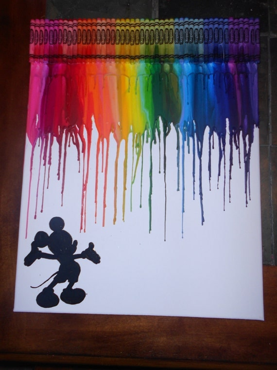 Mickey Inspired Melted Crayon Art