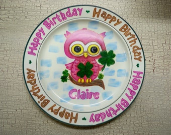 Birthday Plate, Custom Plates,