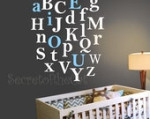 Vinyl Wall Decal- Alphabet A-Z- Kids Letters Decals - Nursery wall decal letters - Letters Decal Set