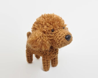 Poodle Amigurumi Dog Handmade Crochet Puppy Stuffed Animal Toy Poodle Plush / Made to Order