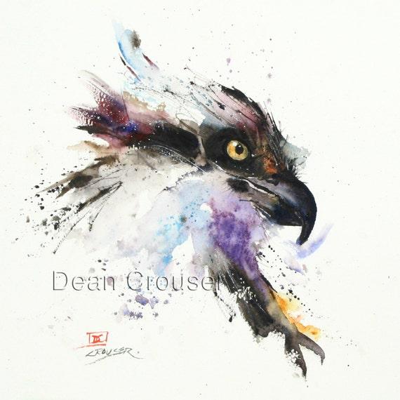 Hawk painting watercolor - photo#31
