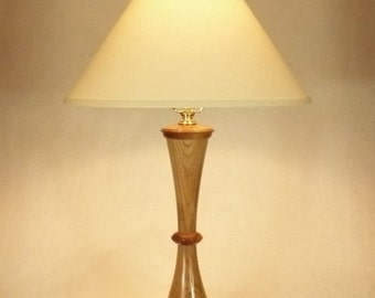 Table Lamp 02036L, Desk Lamp, Accent Lamp, Butternut, African Mahogany