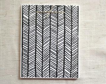 Herringbone Mini Notebook - Black/White