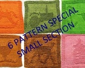 "6  Knitting Cloth Pattern,  Special  6 for 15.99 ""Small cloth section""  ONLY - Link Below to small section"