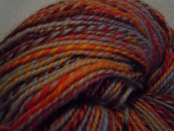 May Pole, Louet Wool Top Handspun Yarn