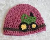 Crochet Korner Crochet Tractor Hat Girl