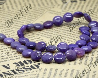 12mm Light  Purple Coin Agate nugget beads,stone beads,gemstone beads loose strand 15inch