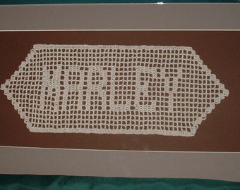 Crochet Name Wall Hangings or Doily