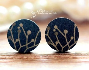 35% off -10PCS 16mm Round Handmade Photo Wood Cut Cabochon to make Rings, Earrings, Bobby pin,Necklaces, Bracelets-(WE-35)
