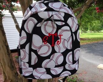 Personalized  Boys/Girls  Backpack  BASEBALL Backpack Bookbag