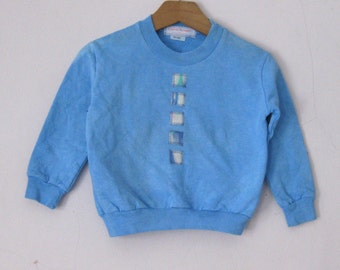 Sweatshirt 18 month Hand Dyed Blue Cotton
