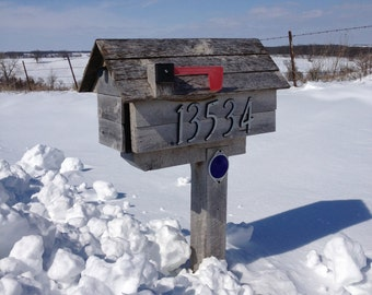 "Postcard With the Mailbox, Fine Art Photography Postcard, Winter Mailbox Postcard, Photography Art Print, Home Decor 4""x6"""