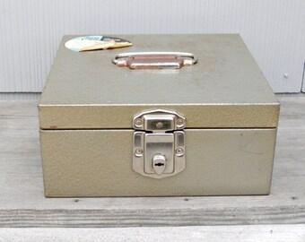 Vintage Metal File Box   Porta Check File