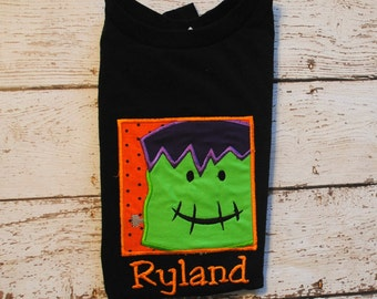 Embroidered Bodysuit or Shirt with Frankenstein Box