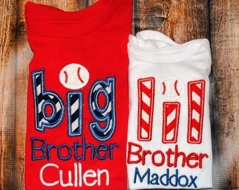 Sibling Shirt/bodysuit Shirt Big Bro, Lil Sis, Big Sis, Lil Bro