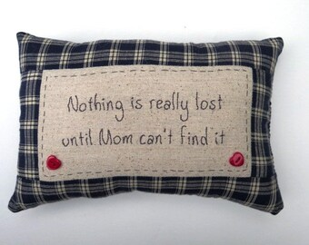 Embroidered Mom Pillow