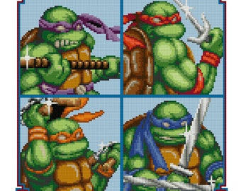 Teenage Mutant Ninja Turtles - PDF Cross-stitch pattern - Instant Download!