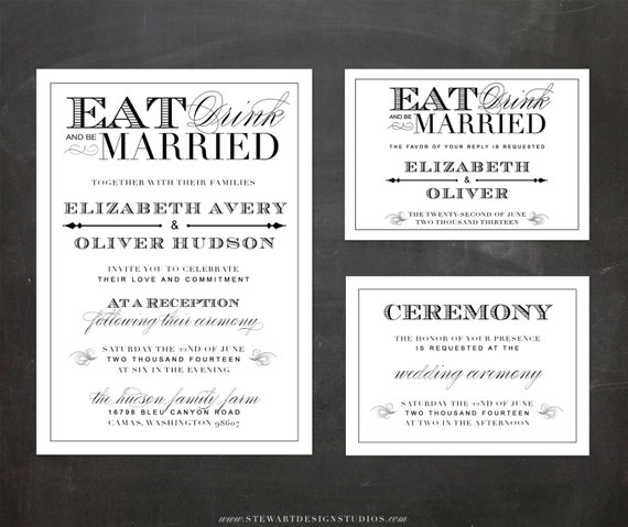 Items Similar To Wedding Reception Invitation, RSVP