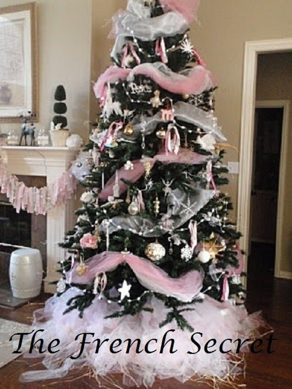 Christmas Tree With Tulle Garland Part - 21: Like This Item?