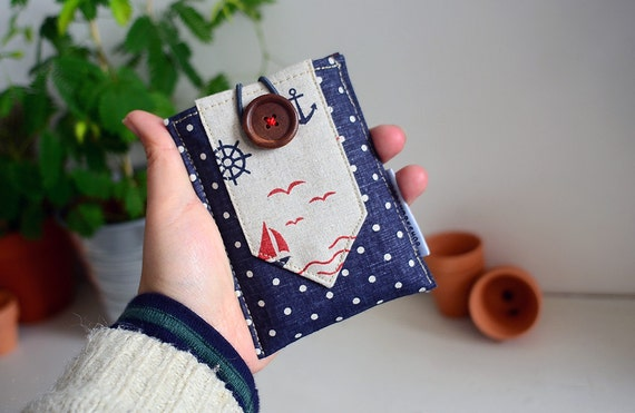 iphone pouch - fabric, canvas, linen wallet, the sailors