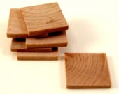 100  Wooden Square Tiles - 1 Inch Wood Squares Unfinished for Crafting