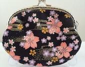 Medium Handmade Coin Purse - Floral Japan Sakura