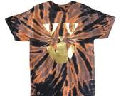 Cat-o-lantern tie dye tee shirt