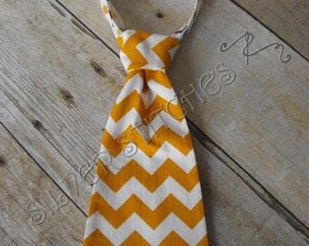 Adjustable Infant and Toddler Tie, Gold Chevron & Dot, Baby Tie, Velcro Tie, Photo Prop, Baby Gift, Little Boy Tie, Birthday, Fall Boys Tie