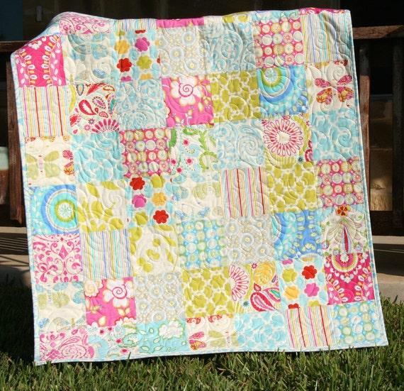 Kumari Garden Baby Quilt Girl Crib Bedding Kids Child Blanket