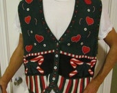 Ugly Christmas Sweater Vest, SIZE 2X