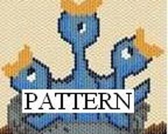 Chirping Nestful, pattern, amulet, peyote