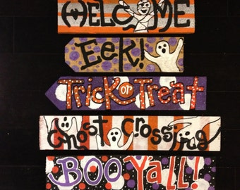 Halloween Signs All are READY to Ship as pictured Use your own hammer nails included