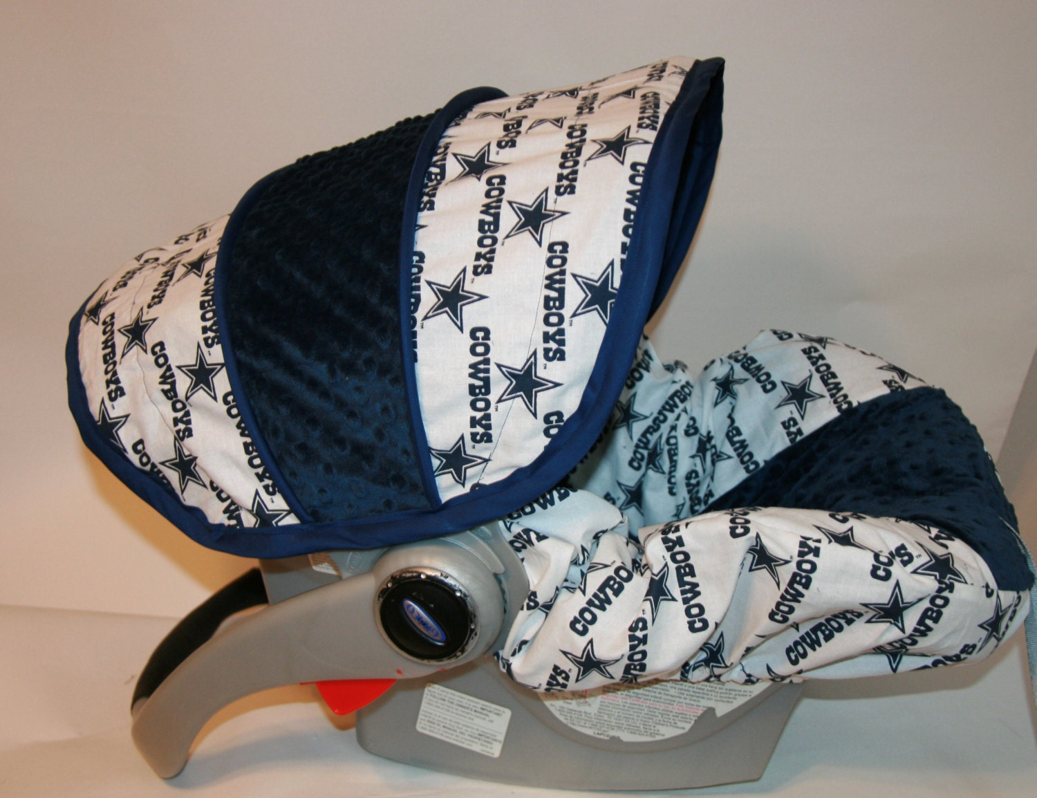 Dallas Cowboys Fabric With Navy Minky Infant By Babycovers2010
