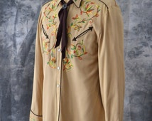 1950s Embroidered Western Shirt