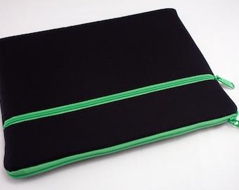 iPad Pro 9.7 Case, iPad air 2 sleeve, iPad Pro Cover, Microsoft Surface Pro 4 Case, Kindle Sleeve, Fabric Tablet Ereader-Green Midnight