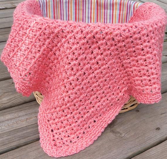 Mini Crochet Baby Blanket Pattern : Crochet Baby Afghan Small Blanket V Stitch Blanket Mini Afghan