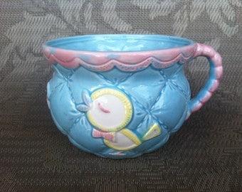 Vintage Ceramic Planter, Baby Mug Vase, Baby Shower, Mom to Be, Newborn, Nursery