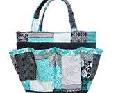 Quilt Print Bingo Bag // Craft Organizer // Makeup Organizer // Caddy // Teacher Tote // Nurse Tote