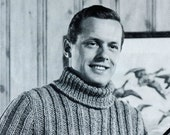 Men's 1960s Extra-Long Outdoor Ribbed Sweater -- Chunky Knit -- PDF KNITTING PATTERN