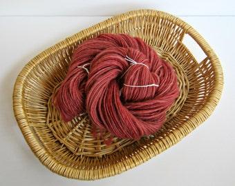 Handspun Rose Corriedale Wool Yarn