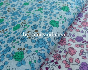 "Japanese cotton fabric, mini floral print fine poplin cotton fabric, half yard by 43"" wide"