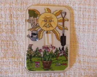Sun Garden Light Switch Plate