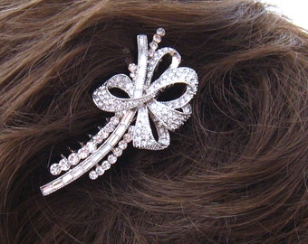 Rhinestone Bridal Haircomb, Jeweled Bridal Comb, Bridal Accessory, Bridal Fascinator, Wedding Accessory, Bridal Hair Accessory