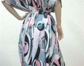 Kaftan Dress in Floral Design Gift for Her Loungewear Wedding Bridal Shower Birthday Valentine Day Anniversary Bridesmaid Robes