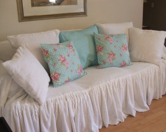 "chenille sofa slipcover ""throw"""