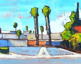 Parking Lot Palms, Escondido- San Diego Landscape Painting